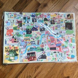 London Music Map Art Print Anthropologie